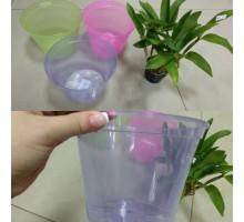Горшок для орхидей прозрачный d 18см 35р